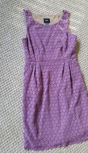 Anthropologie Maeve Purple Eyelet Branch Dress